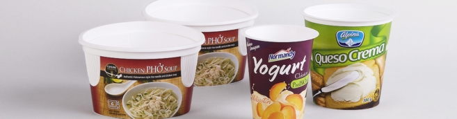 Yoghurt pots, noodles, fresh cheeses, cuisine adventure, normandy, alpina