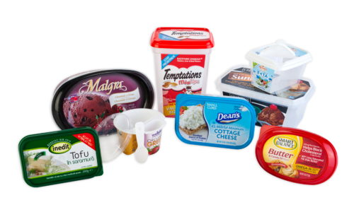 comidas, leches heladas, malgra, inedit, dean's, président, smart balance - plastic packaging for cheese, frozen products, yoghurts, butter, margarine - envases de plastico para productos lacteos, quesos, mantequillas, margarinas, yogures