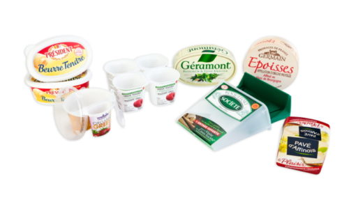 Epoisse, roquefort société, beurre président - dairy products and cheese packaging - productors lacteos, quesos, mantequillas, margarinas, yogures