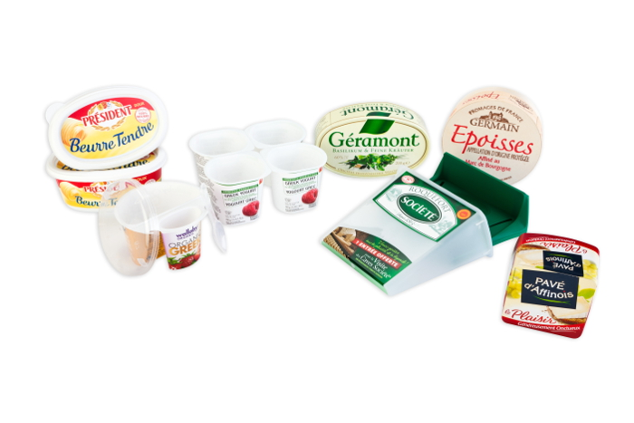 Our packaging for dairy products and cheeses