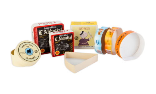 Glued, square, round, rectangular, half-moon, brie wedge, cheese, rondoux, maroilles, saint paulin, chaumes