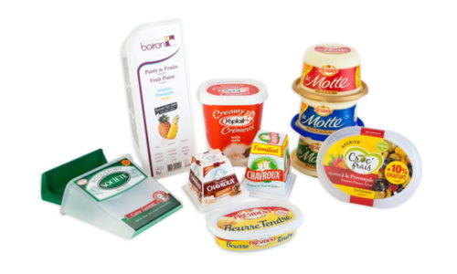 Cheese, butter, margarine, yoghurt, ice cream, les vergers boiron, roquefort societe, yoplait, chavroux, croc' frais