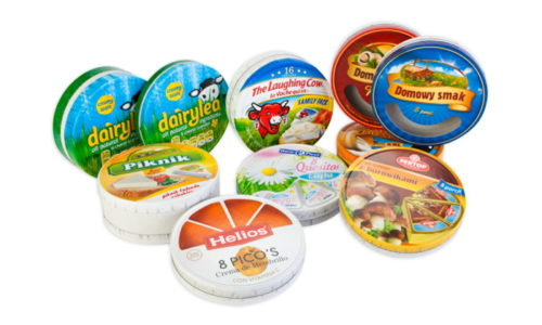Embossed melted cheese boxes, The Laughing Cow, dairylea, piknik, helios, reny picot, sertop, domowy smak