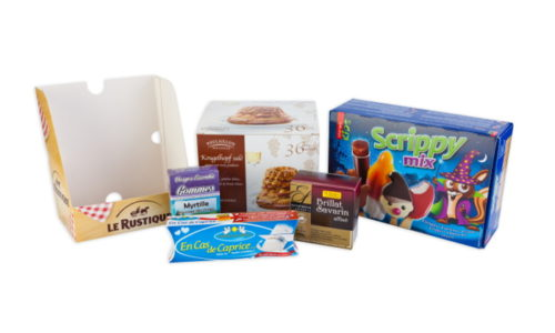 cardbord boxes containers, Le rustique, Caprice des Dieux, Brillat Savarin, Vosges essentia, poulaillon, thiriet, scrippy mix