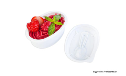 pots plastiques sorbets - plastic packaging for frozen products , ice cream,  frozen fruits - envase plastic para helados,